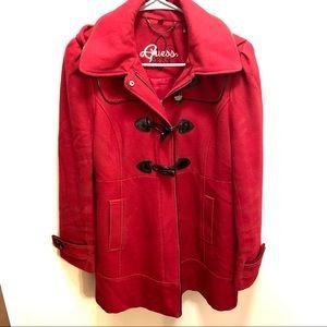 Guess Red Winter (unique) Dress Coat size large